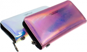 Кошелек MK 3678 (48шт) 20-10-3см,застежка-молния, короткая ручка, 5цветов-неон,в кул 53118