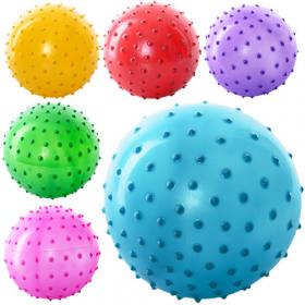 Мяч массажный MS 0021 (250шт) 3 дюйма, ПВХ, 20г, 6 цветов, 46516