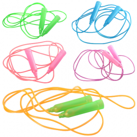 Скакалка MS 0689 (500шт) ручка пластик, 220см, веревка,-резина, 3цв 54062