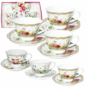 Сервіз чайний 12пр Англійський сад (200мл, бл.14,5см) 1752-08  47837