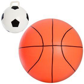 Мяч детский MS 8964/0945 (48шт) 18 дюймов, 2 вида(футбольный,баскетбол),360г,в кульке,20-16-4см 8959