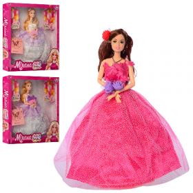 Кукла M 4475 UA (24шт) шарнирная, 30см, сумочка, 3вида, в кор-ке, 32-33-5 54005