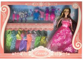 Кукла с нарядом YY1042 (36шт) 27см, платья, аксессуары, микс видов, в кор-ке,45-32,5-6 54013
