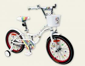 Велосипед детский 18''  2-х колес.201801 (1шт) Like2bike Fly, белый, рама сталь, со звонком 53080