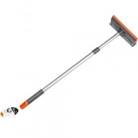 Швабра для миття вікон, губка 25см, алюмінієва ручка телескоп, 60-98см EF-2516 53534