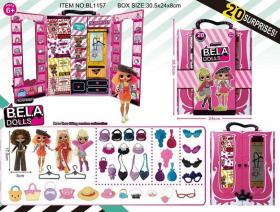 Набір Ігровий лялька Bella Dolls BL1157 (30шт/2) шкаф д/одягу 50528