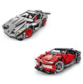 Конструктор 701400/701401 (36шт/2) 2 вида Bugatti, Lamborgini, в кор. 36,8х33,8х6,8см 50532