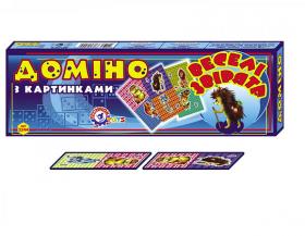 """Доміно """"Веселі звірята Технок"""" картонне  2544 (50252)"""