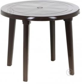 Стіл круглий коричневий 52759