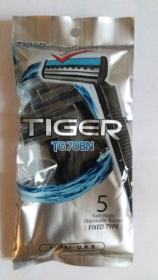 Бритва одноразова TIGER 708N 5шт уп 20шт/блок 48953