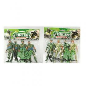 Солдаты в наборах 8008-13-15 (180шт) комбат, 4шт, 12см, 2вида, в кульке, 19,5-18-2 53156