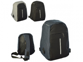 Сумка MK 2771 (20шт) размер средний+,34-20-10см, застеж.молн,наруж/внутр.карм,USBшнур,3цв 53158