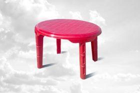 Стіл дитячий овальний (Розовий) 61х75 см  (32991 )