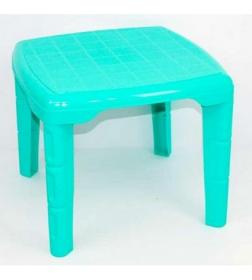 Стіл дитячий квадратний (Бирюза) 46х56х56 см (32992 )