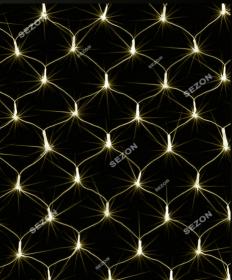 Гирлянда - Сітка 160 LED 2м х1,5м, білий теплий 1592-07 (50492)