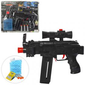 Автомат AK46 (24шт) 27см, водяные пули, мягкие пули-присоски3шт, в кор-ке, 32,5-25,5-4,5см 53928