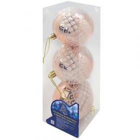 Ялинкові кульки 8см 3шт/уп (128уп) 9324SC 54168