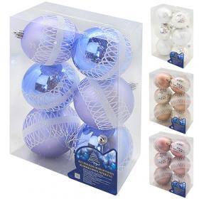 Ялинкові кульки 8см 6шт/уп (64уп)9350 54170