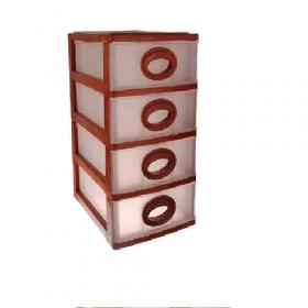 """Комод міні """"Rotang"""" 4 яруси (200х190х265) (Бежево-коричневий) 43002"""