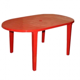 Стіл овальний (Червоний)750х1200 мм  38006