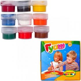 Фарби Гуаш   9 кольорів 10 см3 (110 гр.), ©Disney, х40шт ТЕ12104 52879