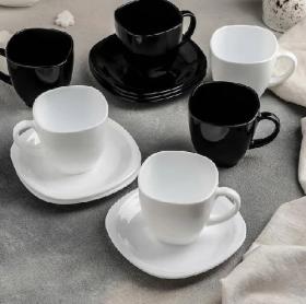 Lum.Carine Black&White.Набір чайний 220мл-12пр D2371089222