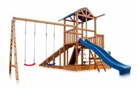 Детская площадка - Капитан с зимней горкой Babyland-13 (46920)