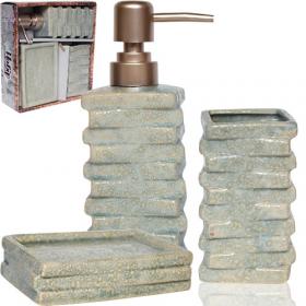 Набір аксесуарів для ванної кімнати 887-11-01 Атлантида, 3пр 53473