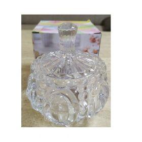 "Цукорниця скляна Crystal ""Denise"" з кришкою д.9,2см в упаковці (YBCG-151) 53833"