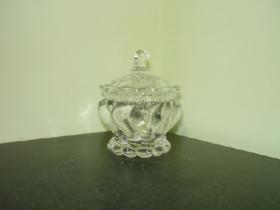 """Цукорниця скляна Crystal """"Vega"""" з кришкою д.9,2см в упаковці  (YBCG-154) 53834"""