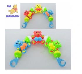 Погремушка 6352 B (288шт) растяжка на кроватку, мишки, 2 цвета, в кульке, 37-7-3 54039
