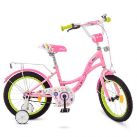 Велосипед дит. PROF1 18д. Y1821-1 (1шт) Bloom, рожев. дзвінок, дод.колеса 48488