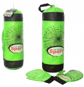 Боксерский набор MR 0107 (24шт) груша,41-13см,напол текстиль, перчатки ,41-13-14см 53940