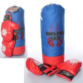 Боксерский набор MR 0129 (18шт) груша45-14см, наполн-текстиль,перчатки 45-21-14см 53943