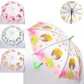 Зонтик детский MK 4057 (50шт) длина67см, трость61,диам.84см,спица48см,свисток,клеенка 53968