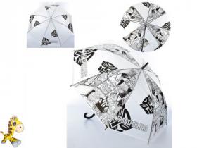 Зонтик детский MK 4098 (60шт) длина76см,трость67см,диам91см,спица51см,клеенка,3вида(TF), 53969