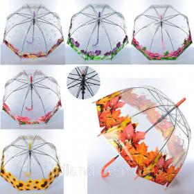Зонтик детский MK 4478 (60шт) длина66,трость61,диам83см,спица48см, свисток,клеенка,4вида 53974