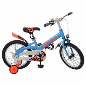 Велосипед 14д дит. PROF1 W14115-2 Original, синій ,крила,дзвінок,дод.колеса 42295