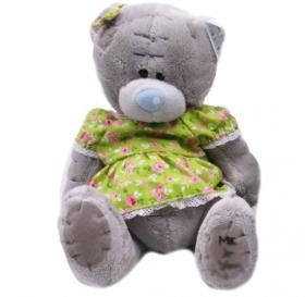 """Мяка іграшка 581 """"Медведь Тедди  в платье"""" 13см (46358)"""