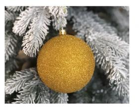 Кулька блиск Золото 8см  х6шт (19725 )