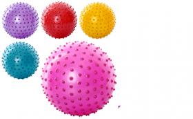 Мяч массажный MS 0023 (250шт) 8 дюймов, ПВХ, 90г, 5 цветов 8965