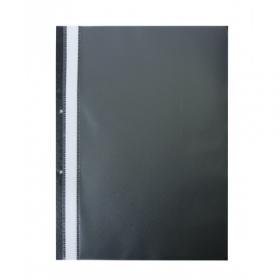 Папка Швидкозшивач пласт. А4(2 отв), PP, чорнийBM.3314-01 53692