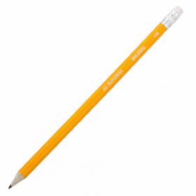 Олівець графітовий HB, жовтий, з гумкоюBM.8500х100шт 53706