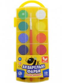 Фарби акварельні 12 кольорів 83216905-UA 53091