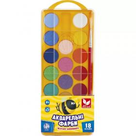 Фарби акварельні 18 кольорів 83210900-UA 53092