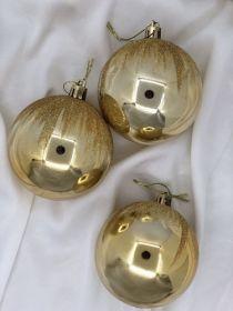 Кулька гальваніка золото + блиск 8см х6шт (14137 )
