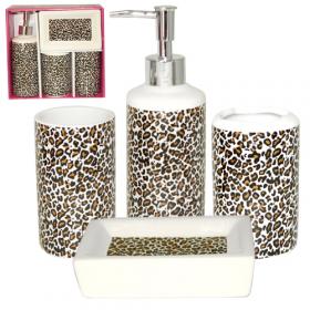 Набір 4пр Леопард 888-06-014 (мильниця, підставка для зубних щіток, стакан, діспенсер для мила 47845
