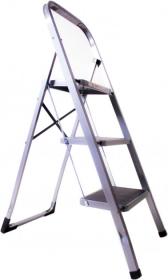 Драбина побутова SLS-03 металева 3 сходинки з резиновим покриттям 52862