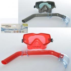 Набор для плавания 24037 BW (12шт) маска(регулир.ремешок), трубка, 2цвета, от 14 лет 52431