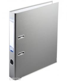Папка-Реєстратор А4,  LUX одност. JOBMAX 50мм PP, сірий, збірнийBM.3012-09c  53721